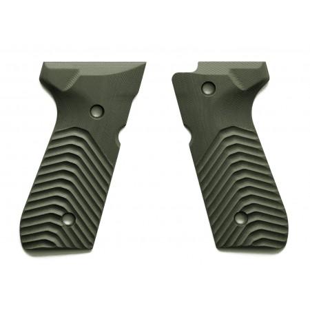 G10 Beretta 92 Gun Grips - Olive