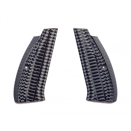 G10 SP1 CZ75 Shadow Gun Grips - Gun Metal